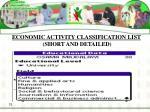 economic activity classification list short and detailed32