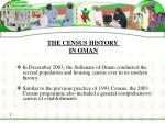 the census history in oman