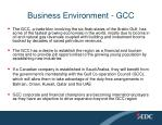 business environment gcc