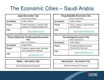 the economic cities saudi arabia