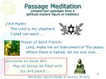 passage meditation choose own passages from a spiritual wisdom figure or tradition
