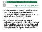 triple survey is now complete9