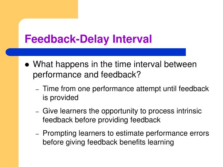 Feedback-Delay Interval