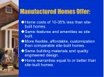 manufactured homes offer