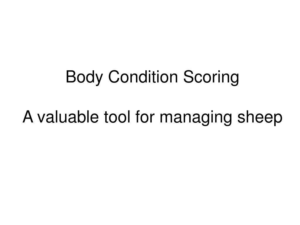 Body Condition Scoring
