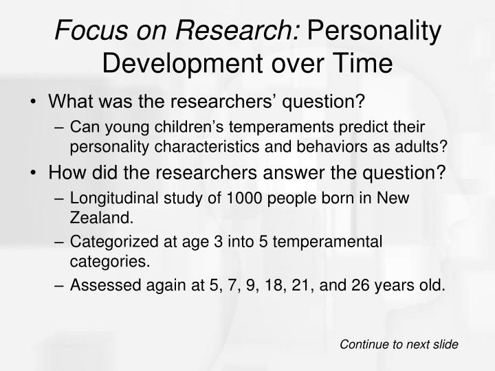 research on personality development