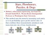 stars plowhorses puzzles dogs
