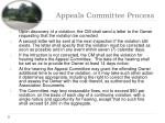 appeals committee process