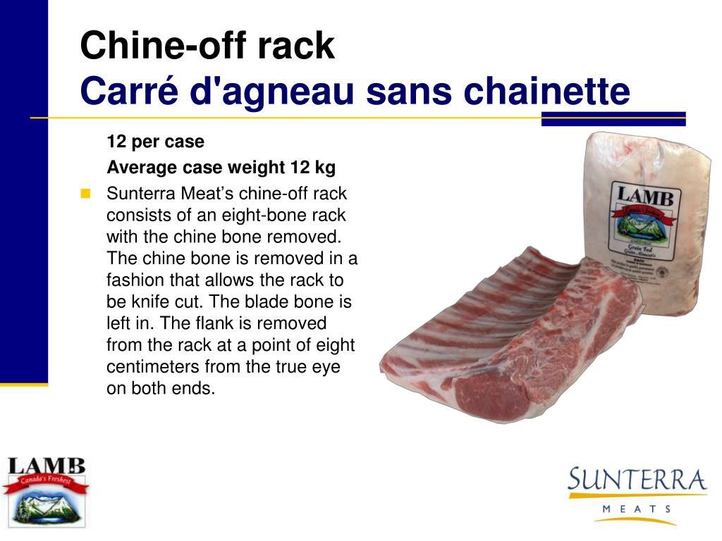 Chine-off rack