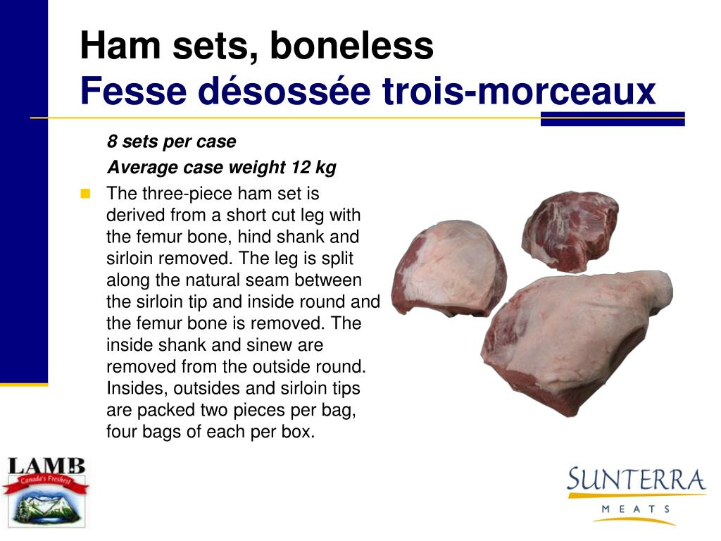 Ham sets, boneless