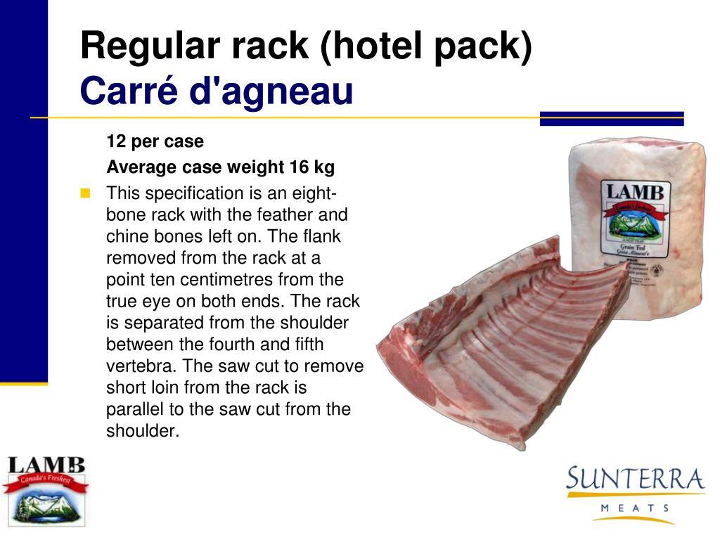 Regular rack (hotel pack)