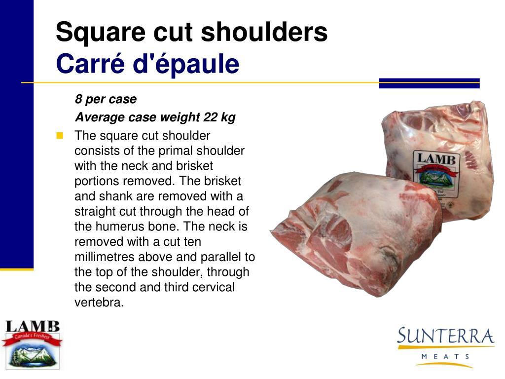 Square cut shoulders