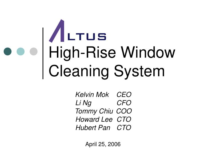 high rise window cleaning system n.