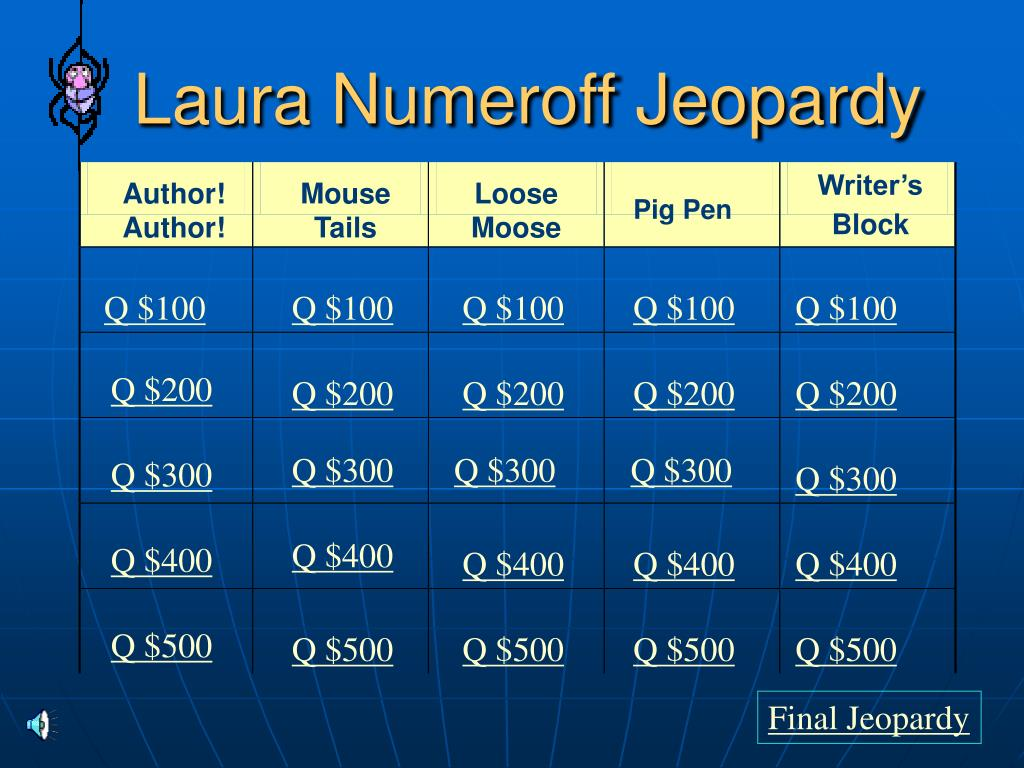 laura numeroff jeopardy l.