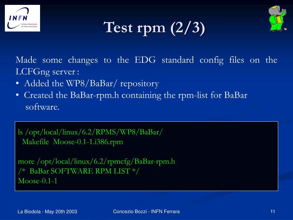 Test rpm (2/3)