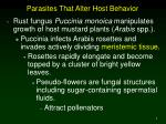 parasites that alter host behavior5