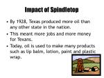 impact of spindletop