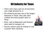 oil industry for texas