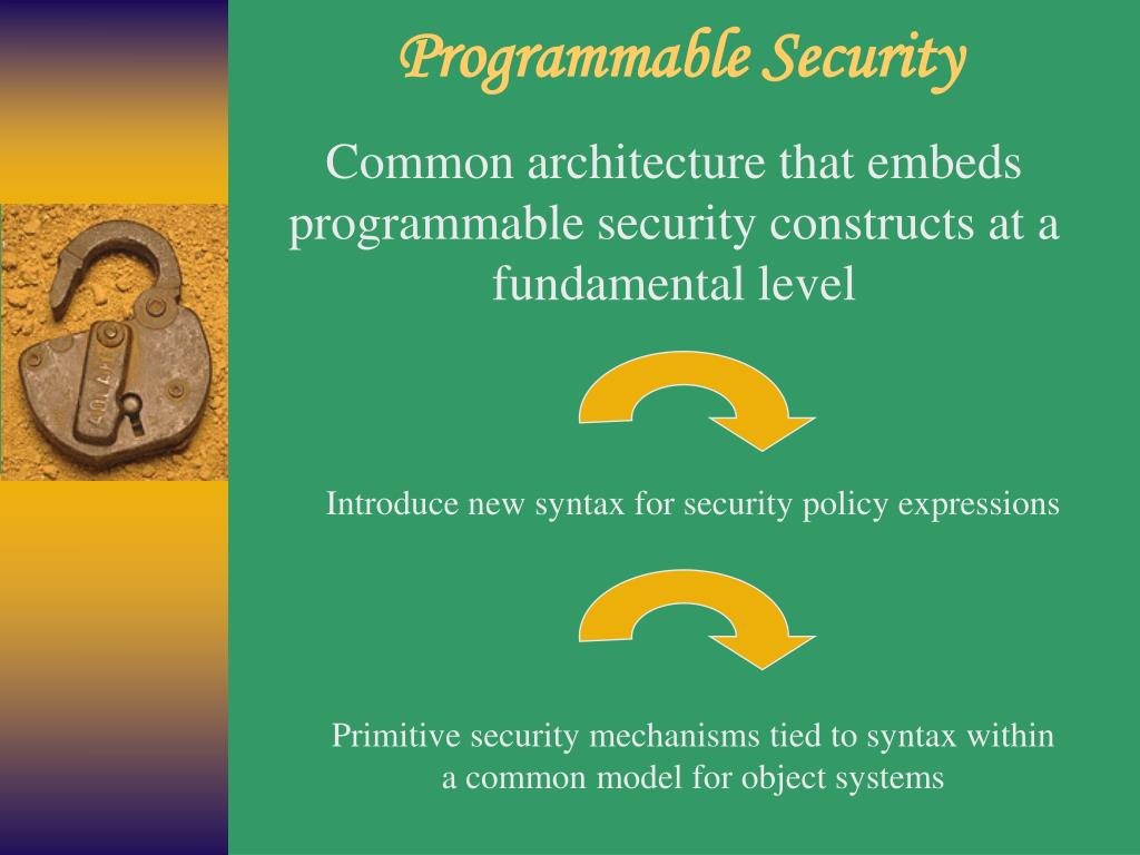 Programmable Security