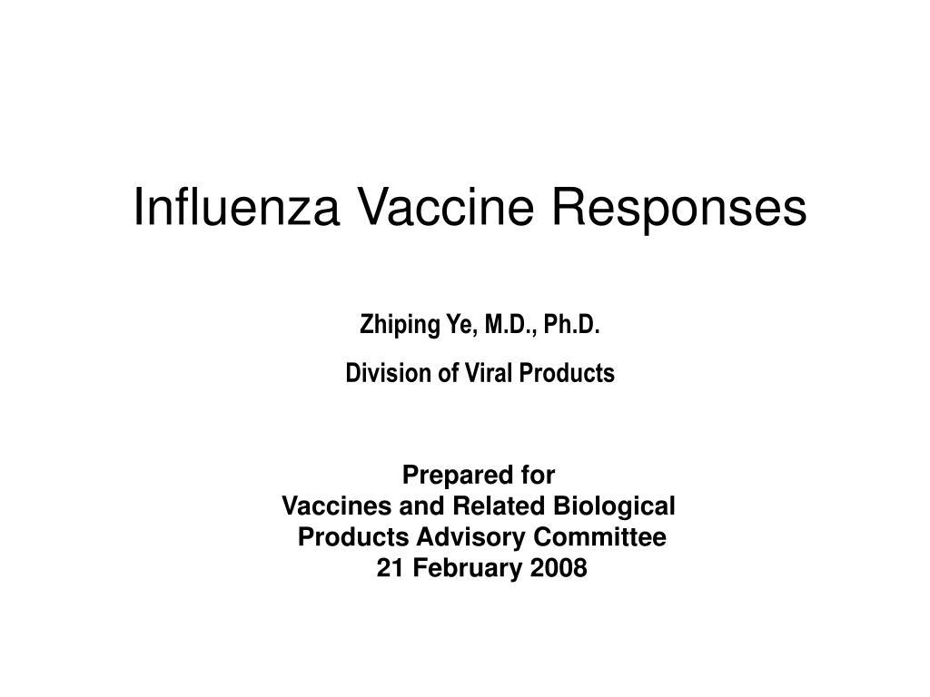 influenza vaccine responses l.
