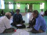 kubokota dictionary workshop