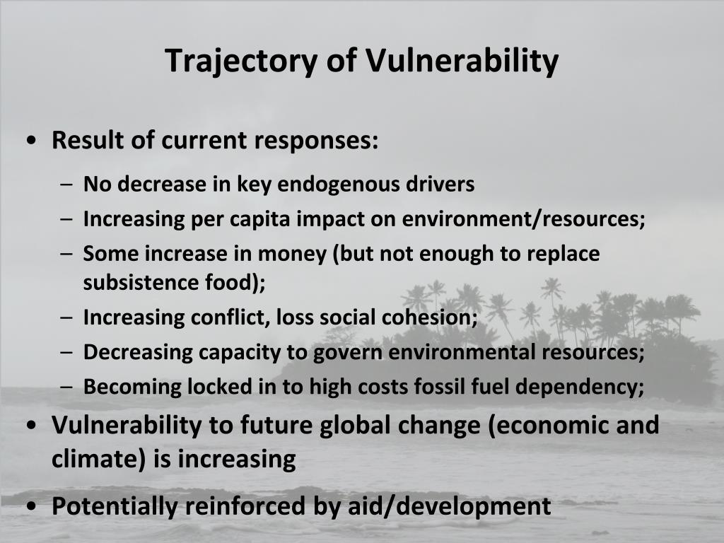 Trajectory of Vulnerability