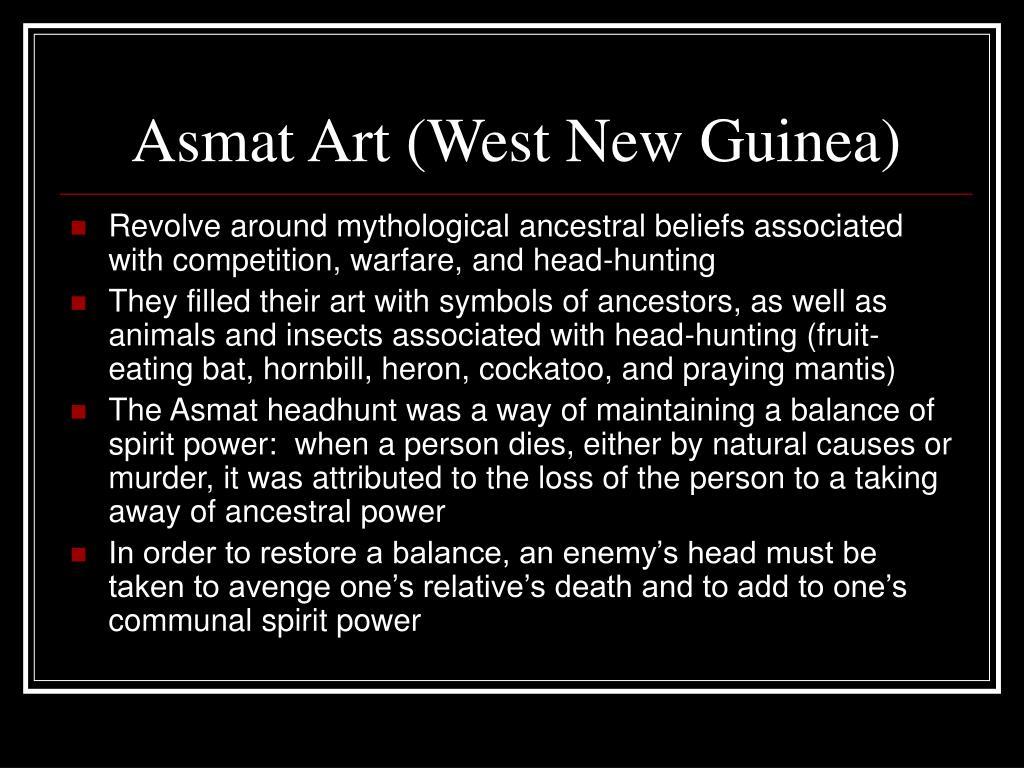 Asmat Art (West New Guinea)