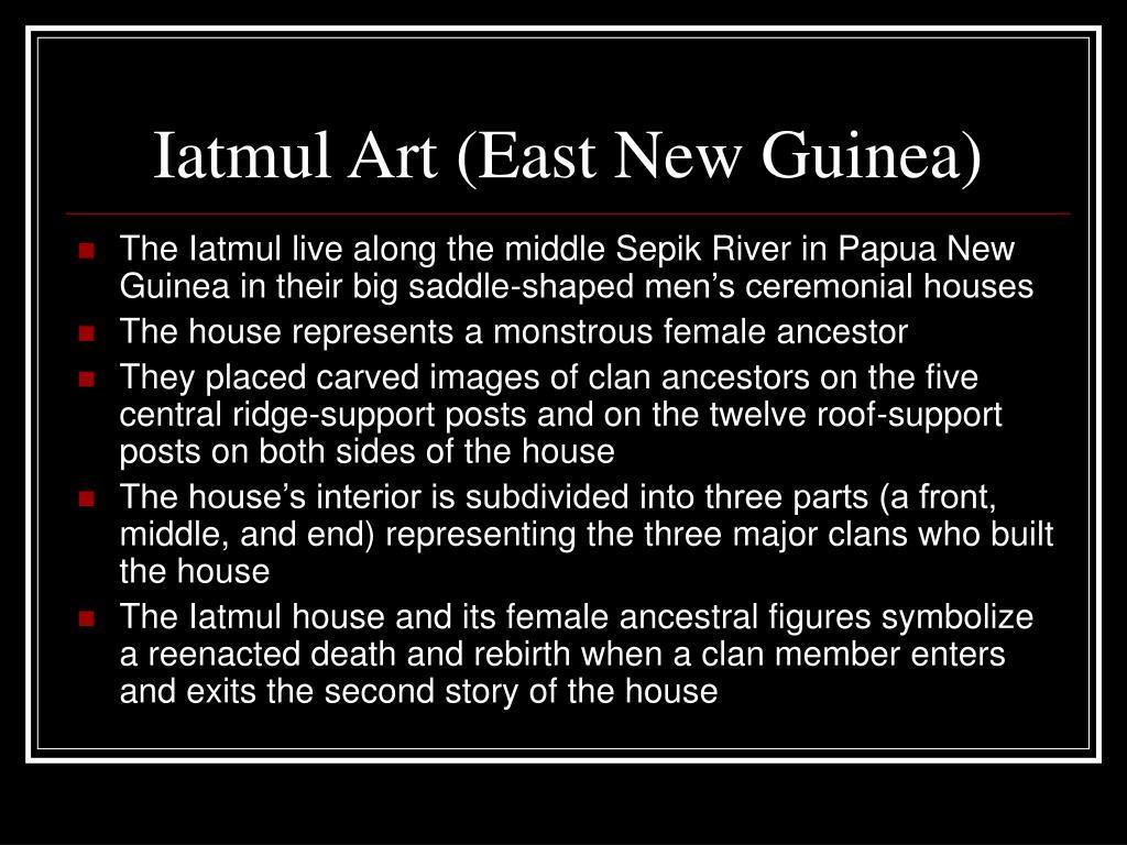 Iatmul Art (East New Guinea)
