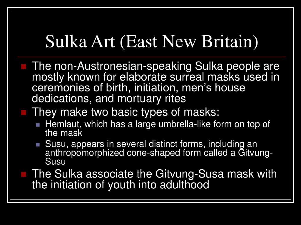Sulka Art (East New Britain)