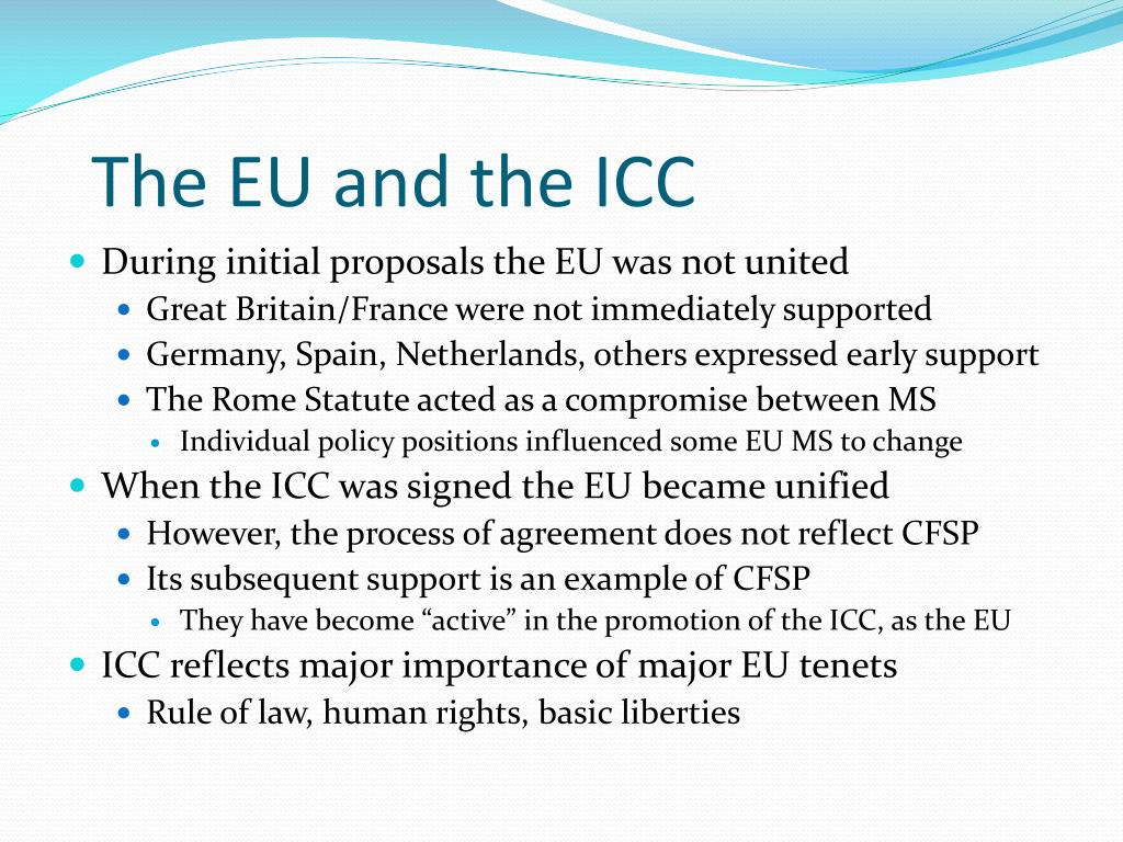 The EU and the ICC