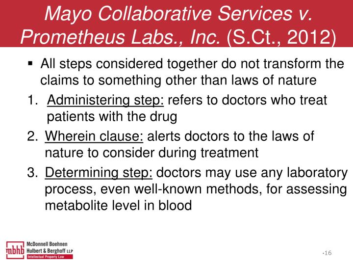 Mayo Collaborative Services v. Prometheus Labs., Inc.