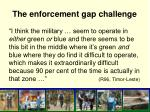 the enforcement gap challenge
