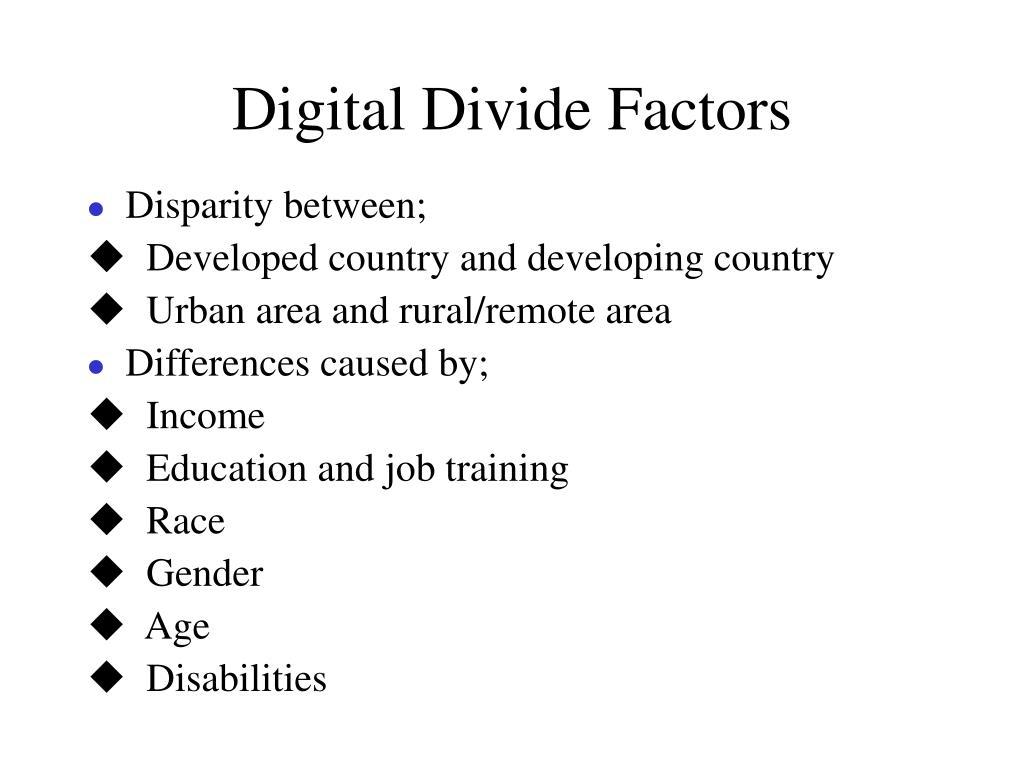Digital Divide Factors