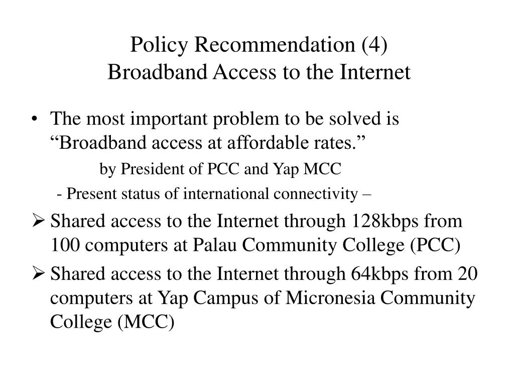 Policy Recommendation (4)