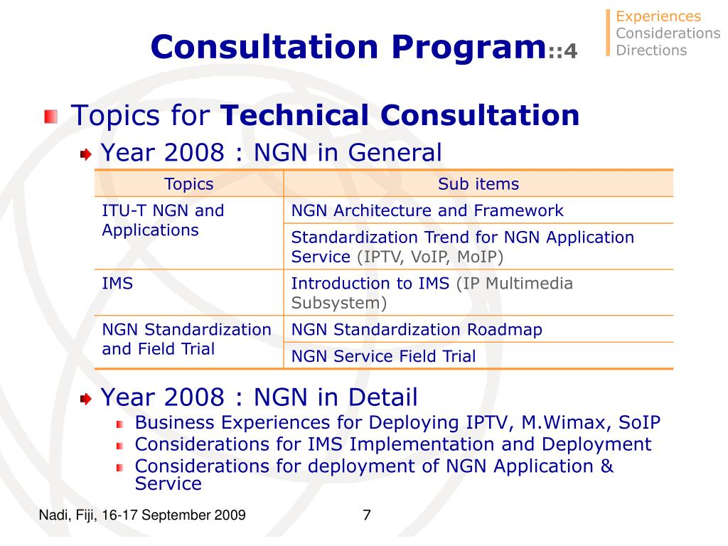 Consultation Program