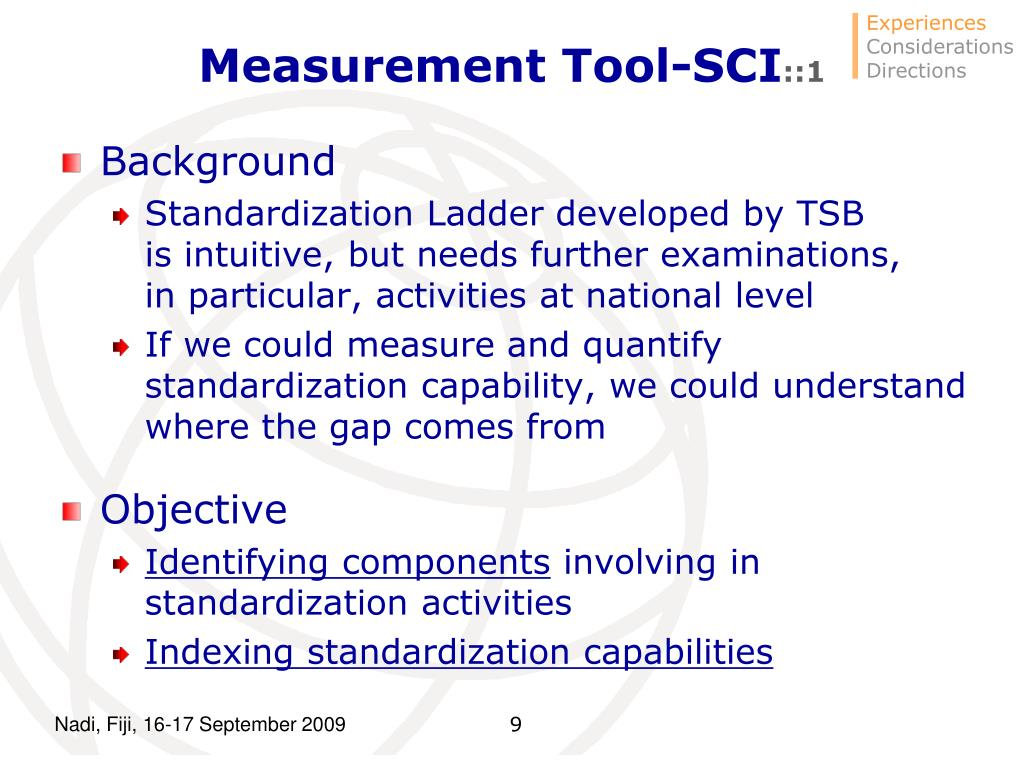 Measurement Tool-SCI