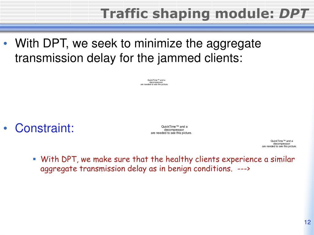 Traffic shaping module: