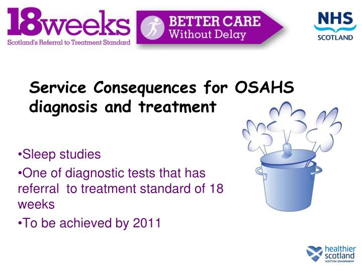 Service Consequences for OSAHS diagnosis and treatment