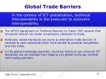 global trade barriers