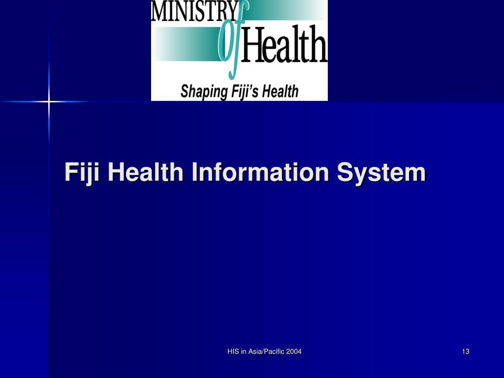 Fiji Health Information System