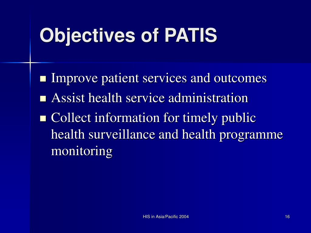 Objectives of PATIS