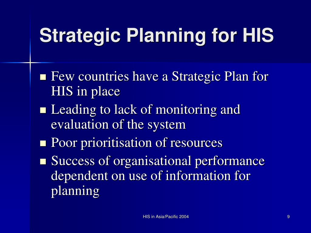 Strategic Planning for HIS