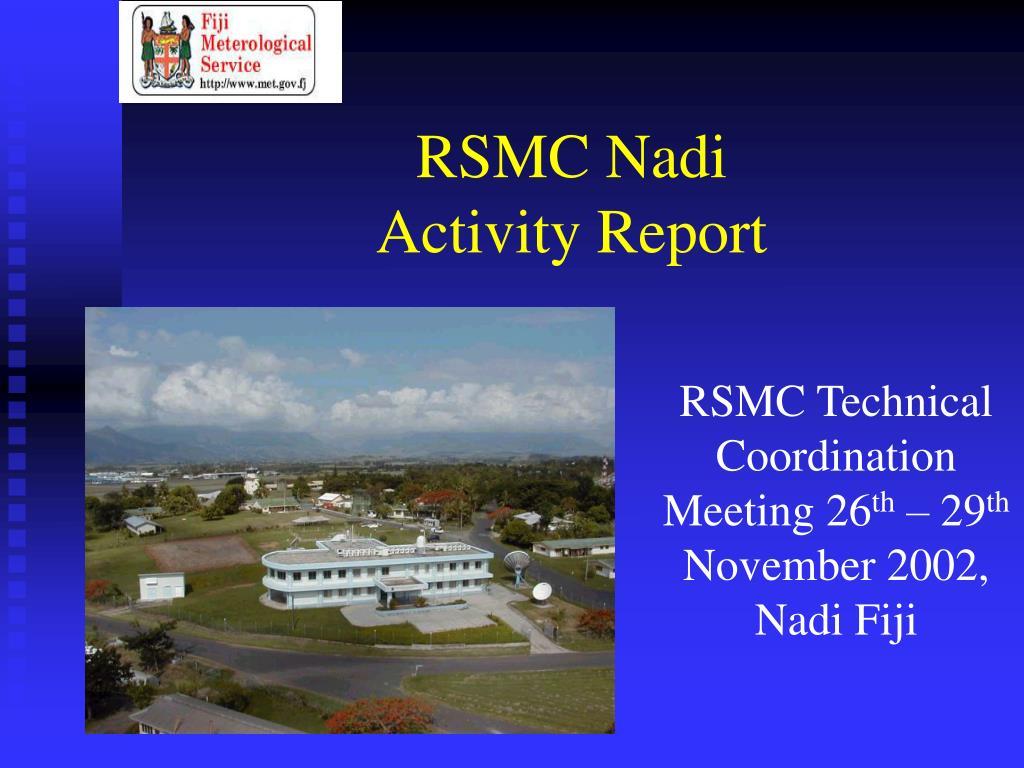 rsmc nadi activity report l.