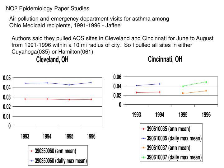 NO2 Epidemiology Paper Studies