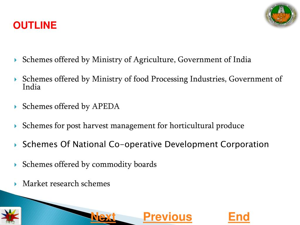 PPT - GOVERNMENT SCHEMES AND POLICIES IN MARKETING