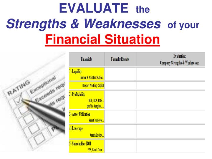 evaluate two strengths and weaknesses of