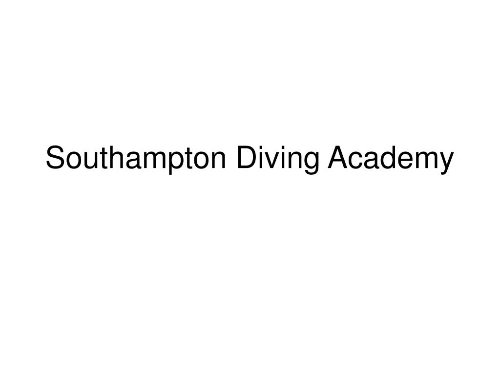 southampton diving academy l.