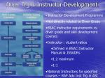 diver trg instructor development