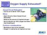 oxygen supply exhausted