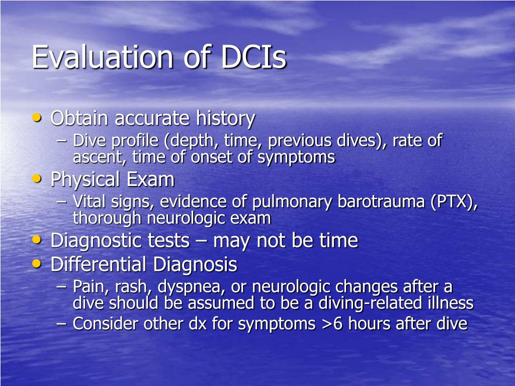 Evaluation of DCIs